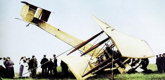 biplane down