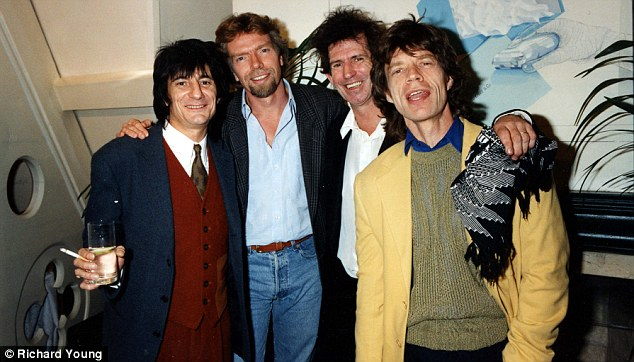 Branson's Virgin Records signs the Rolling Stones