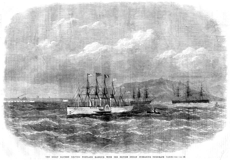 undersea telegraph cable ship