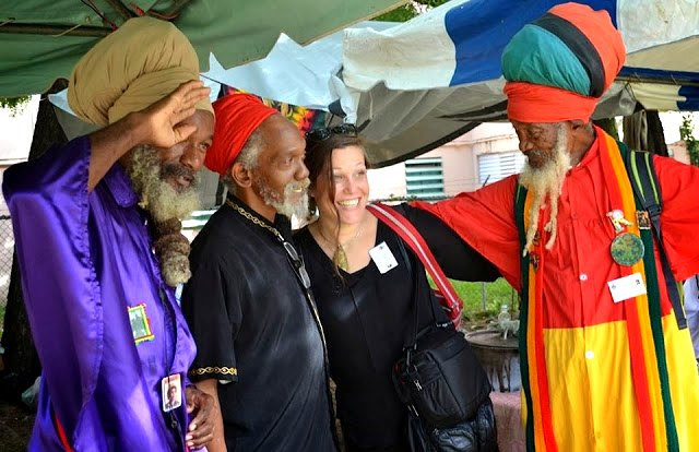 Anthropologist Dr. Linda Aïnouche, PhD described highlights of her field studies into the influence of Indian expatriates on the beliefs, values and hair preferences of Jamaica.