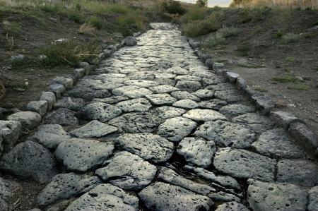 Roman cobble roadway, Brittania