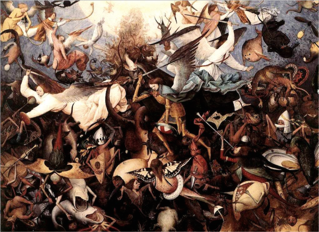 The Fall of the Rebel Angels - Pieter Bruegel the Elder, 1562