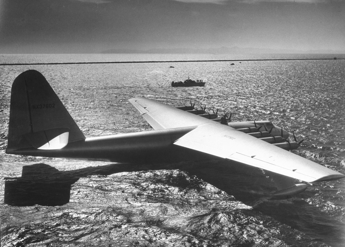 Howard Hughes' monumental flight ship, the Spruce Goose