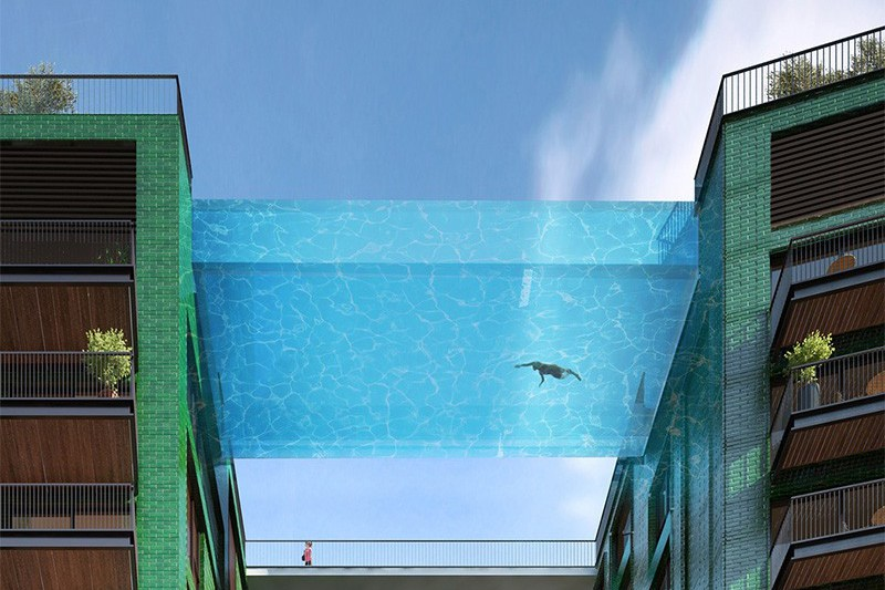 &glass pool