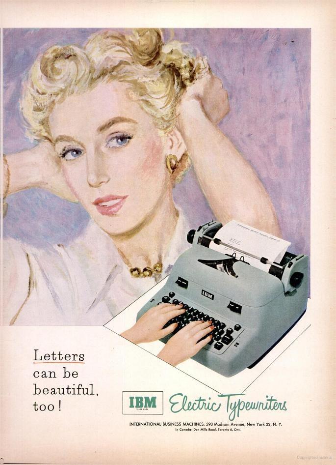 &IBM typewriter ad 1953
