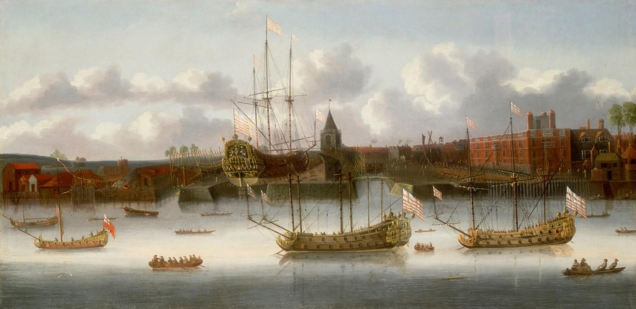 East India Company's yard at Deptford, circa 1660